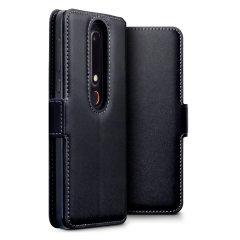 Esta funda de cuero genuino ofrece la protección perfecta para su Nokia 6 2018. También cuenta con un acabado superior con puntadas a la vista y ranuras para tarjetas, efectivo y documentos.