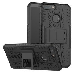 Protect your Huawei P Smart 2018 from bumps and scrapes with this black ArmourDillo case. Comprised of an inner TPU case and outer impact-resistant exoskeleton, the Armourdillo not only offers sturdy and robust protection, but also a sleek modern styling.
