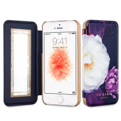 Ever wanted to check how you're looking on the go? With the Ted Baker Candiece Mirror Folio case for iPhone SE, you can do just that thanks to a concealed mirror on the inside of the case's flip cover. This slimline case also offers excellent protection.