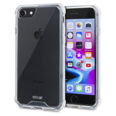 Custom moulded for the iPhone 7. This crystal clear Olixar ExoShield tough case provides a slim fitting stylish design and reinforced corner shock protection against damage, keeping your device looking great at all times.