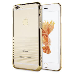 The Melody case in Gold is designed to provide a stylish complement to your iPhone 6. Featuring robust polycarbonate construction, anti-scratch coating and metallic laser-etched stripes.