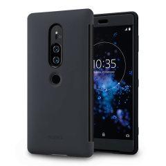 Qualitative Tasche für das Sony Xperia XZ2 Premium bietet nicht nur Schutz vor Schmutz und Kratzern sonder auch integrierte Nachrichtenfunktion auf dem Display. So können Sie Anrufe von Ihren Freunden annehmen, ohne die Tasche öffnen zu müssen.