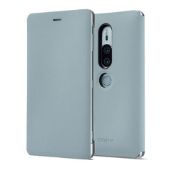 This high quality official SCSH30 bi-fold folio case from Sony houses your Xperia XZ2 Premium smartphone, providing protection and access to your ports and features while incorporating a built-in viewing stand - in grey.