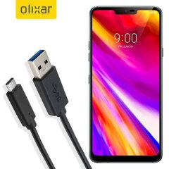 Zorg ervoor dat je LG G7 altijd volledig is opgeladen en gesynchroniseerd met deze compatibele USB-C-kabel. U kunt deze kabel gebruiken met een USB-wandlader of via uw desktop of laptop.