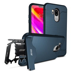 Prepare your LG G7 ThinQ for the great outdoors with the rugged X-Ranger case in Blue. With a handy kickstand and a secure compartment for the included multi-tool - or the card of your choice - you'll be ready for anything.