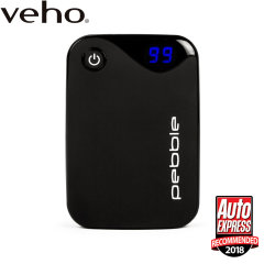 Veho Pebble P1 10,400mAh Portable Power Bank - Black