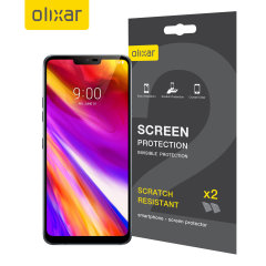Keep your LG G7's screen in pristine condition with this Olixar scratch-resistant screen protector 2-in-1 pack. Ultra responsive and easy to apply, these screen protectors are the ideal way to keep your display looking brand new.