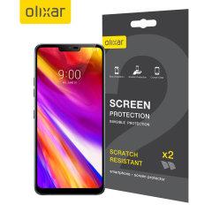 Olixar LG G7 Film Screen Protector 2-in-1 Pack