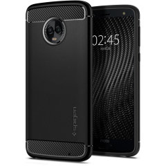 Meet the newly designed rugged armor case for the Motorola Moto G6. Made from flexible, rugged TPU and featuring a mechanical design, including a carbon fibre texture, the rugged armor tough case in black keeps your shiny new phone safe and slim.
