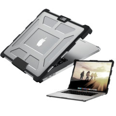 The Urban Armour Gear clear tough case for the Apple MacBook Pro 15 inch  with Touch Bar (4th Gen) comprises of a protective TPU case with a brushed metal UAG logo insert for an amazing design that complements your MacBook perfectly.