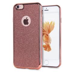Rose Gold iPhone 6S Bling Gel Case - Glitter