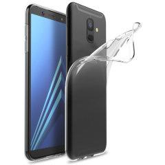 Op maat gemaakt voor de Samsung Galaxy A6 2018, deze transparante Ultra-dunne behuizing van Olixar biedt een slank passende en duurzame bescherming tegen beschadiging.