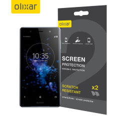 Keep your Sony Xperia XZ2 Premium's screen in pristine condition with this Olixar scratch-resistant screen protector 2-in-1 pack.