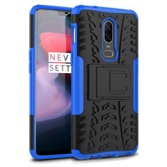 Protect your OnePlus 6 from bumps and scrapes with this blue ArmourDillo case from Olixar. Comprised of an inner TPU case and an outer impact-resistant exoskeleton, with a built-in viewing stand.