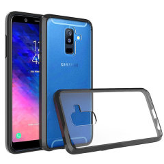 Custom moulded for the Samsung Galaxy A6 Plus 2018, this black Olixar ExoShield tough case provides a slim fitting, stylish design and reinforced corner protection against shock damage, keeping your device looking great at all times.