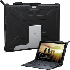 The UAG Metropolis series Rugged Folio Case in black keeps your Microsoft Surface Pro 2017 protected with a lightweight, but highly protective honeycomb composite interior, with a tougher outer case, ensuring the perfect combination of style and security.