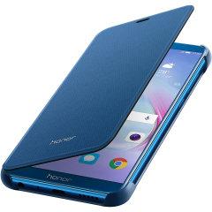 Det officiella Huawei Flip-fodralet till Huawei Honor 9 Lite är elegant och tillverkat av de finaste materialen, samtidigt som det ger skydd till skärmen tack vare locket.