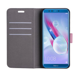 The leather-style Prima wallet case in pink by Redneck offers the ultimate combination of protection and practicality for the Huawei Honor 9 Lite. Including 3 card slots, a magnetic clasp and a built-in stand, this folio case is full of useful features.
