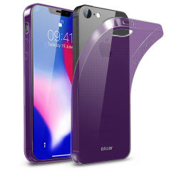 Custom moulded for the iPhone SE 2018, this purple FlexiShield gel case from Olixar provides excellent protection against damage as well as a slimline fit for added convenience.