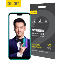 Keep your Huawei Honor 10 screen in pristine condition with this Olixar scratch-resistant screen protector 2-in-1 pack.
