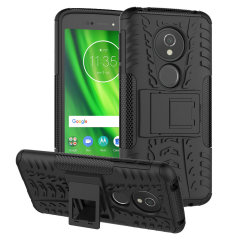 Protect your Motorola Moto G6 Play from bumps and scrapes with this black Olixar ArmourDillo case. Comprised of an inner TPU case and an outer impact-resistant exoskeleton, the ArmourDillo provides robust protection and supreme styling.