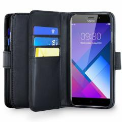 Protect your Neffos C7 with this durable and stylish black leather-style wallet case by Olixar. What's more, this case transforms into a handy stand to view media.