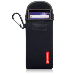 Shocksock Nokia 7 Plus Neoprene Carry Case - Black