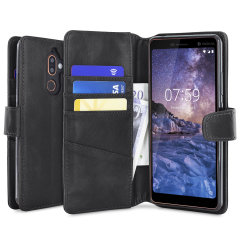This genuine leather wallet case from Olixar offers perfect protection for your Nokia 7 Plus. Featuring premium stitch finishing, as well as featuring slots for your cards, cash and documents.