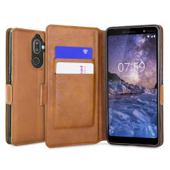 All the benefits of a wallet case but far more streamlined. The Low Profile in cognac is the perfect partner for the the Nokia 7 Plus owner on the move. What's more, this case transforms into a handy stand to view media.