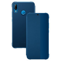 Protect your Huawei P20 Lite's screen and keep up to date with the time and notifications thanks to the intuitively designed smart view window on the blue Huawei flip case. Crafted from the finest materials, the case provides a sophisticated feel.