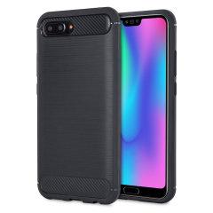 Carbon Fibre Design Huawei Honor 10 Gel Case - Black