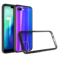 Custom moulded for the Huawei Honor 10. This black and clear Olixar ExoShield tough case provides a slim fitting stylish design and reinforced corner shock protection against damage, keeping your device looking great at all times.