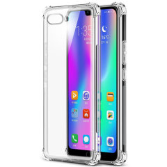 Custom moulded for the Huawei Honor 10. This crystal clear Olixar ExoShield tough case provides a slim fitting stylish design and reinforced corner shock protection against damage, keeping your device looking great at all times.