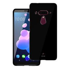 Olixar FlexiShield HTC U12 Plus Gel Hülle - Tiefes Schwarz