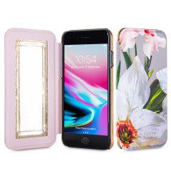 Ted Baker Rosamon Mirror Folio iPhone 8 Hülle - Chatsworth Blüte