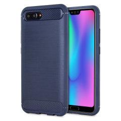 Carbon Fibre Design Huawei Honor 10 Gel Case - Blue
