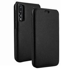 Piel Frama iMagnum Genuine Leather Huawei P20 Pro Flip Case - Black
