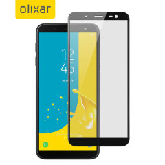 This ultra-thin full cover tempered glass screen protector for the Samsung Galaxy J6 from Olixar offers toughness, high visibility and sensitivity all in one package.