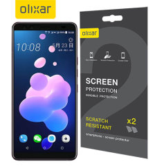 Olixar HTC U12 Plus Screen Protector 2-in-1 Pack