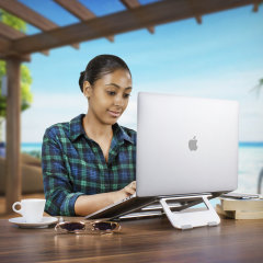 The ErgoRiser MacBook stand is a must-have accessory for any modern digital nomad for whom remote working does not mean a compromise on productivity. Olixar's utilitarian & thoughtful design principles blend contemporary styling with sturdy construction.