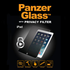 Introducing the PanzerGlass glass screen protector with privacy filter. Designed to be shock resistant and scratch resistant, PanzerGlass offers ultimate protection for your iPad Air 2's display.