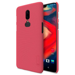 Nillkin Super Frosted OnePlus 6 Shell Case & Screen Protector - Red
