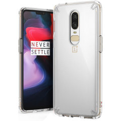 Protect the back and sides of your OnePlus 6 with this incredibly durable clear Fusion Case by Ringke.