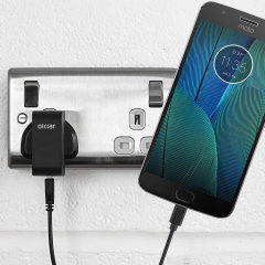 Charge your Motorola Moto G5S Plus quickly and conveniently with this compatible 2.4A high power charging kit. Featuring mains adapter and USB cable.