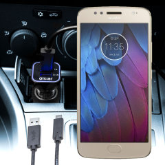 Keep your Motorola Moto G5S fully charged on the road with this compatible Olixar high power dual USB 3.1A Car Charger with an included high quality USB to Micro-USB charging cable.