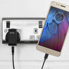 Charge your Motorola Moto G5S quickly and conveniently with this compatible 2.5A high power charging kit. Featuring mains adapter and USB cable.