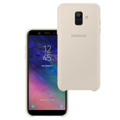 Protect your Samsung Galaxy A6 2018 with this Official silicone case in gold. Simple yet stylish, this case is the perfect accessory for your Galaxy A6.