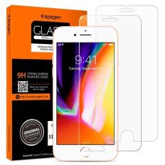 Spigen GLAS.tR Slim iPhone 8 Tempered Glass Screen Protector - 2 Pack