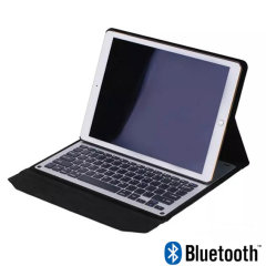 Encase Aluminium iPad 9.7 2017 Bluetooth Keyboard Folio Case - Black