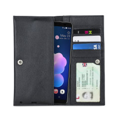 Crafted from premium quality genuine leather, with precision stitching and stud closure, and featuring a luxurious soft lining, document pockets and card slots, the Primo Wallet for the HTC U12 Plus will protect your phone in style.